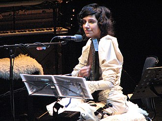 PJ Harvey - Harvey performing live during the White Chalk tour in 2007