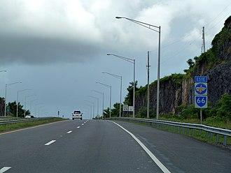 Puerto Rico Highway 66 - A stretch of PR-66 heading to Rio Grande.