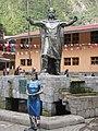 Pachacútec statue in Machu Picchu pueblo, Peru.jpg