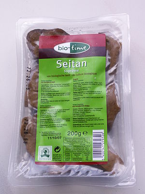 Wheat gluten (food) - Commercially packaged seitan