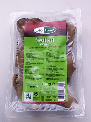 Wheat gluten (food) - Commercially packaged seitan