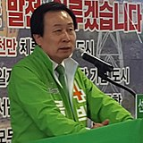 Pak Hong-ryul, Preliminary candidate for mayor of Mokpo (cropped).jpg