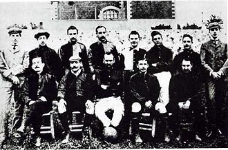 History of U.S. Città di Palermo - Image: Palermo first lineup