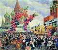 Palm Market with Spassky Gate (Kustodiev, 1917).jpg