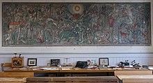 mrchenwelt von 1929 des deutschen malers hans fischer schuppach im badischen schulmuseum karlsruhe es zeigt 40 mrchen der brder grimm auf - Gebruder Grimm Lebenslauf