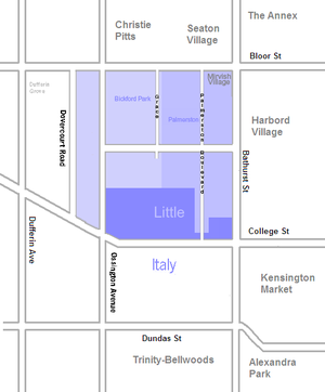 Palmerston–Little Italy - Image: Palmerston Little Italy map