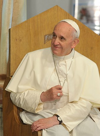 Francis, the first pope from the New World, was born and raised in Argentina. Papa Francisco na JMJ - 24072013.jpg