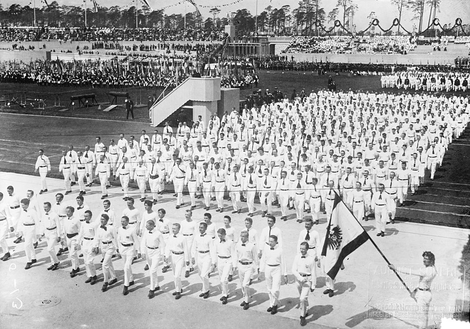 Parade of Turners at opening of the 1916 Summer Olympics (Berlin)