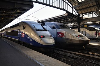 TGV - TGV trains at Paris Gare de l'Est