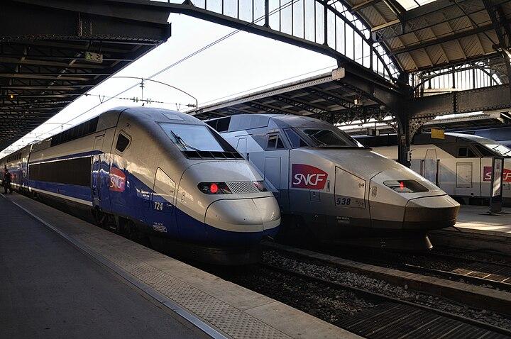 French TGV high speed train