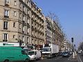 Paris - boulevard Ornano - East side during the Sunday market (corner rue de Clignancourt).JPG