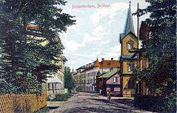 Borlänge ved 1900-tallet begyndelse.
