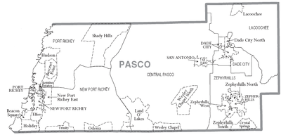 Map Of Pasco County Pasco County, Florida   Wikipedia