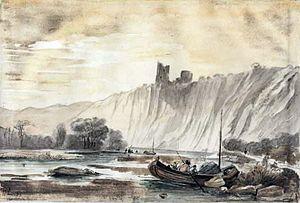 Paul Lauters - Paul Lauters, Ruines du Château de Montfort à Esneux, 1841
