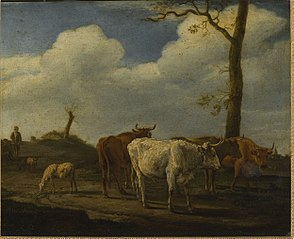 Cattle and Sheep with a Herdsman