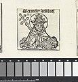 Paus Alexander II Alexander secundus (titel op object) Liber Chronicarum (serietitel), RP-P-2016-49-67-9.jpg