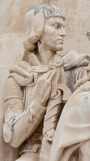 Peter, Duke of Coimbra - Effigy of Peter, Duke of Coimbra, in the Monument to the Discoveries, in Lisbon, Portugal.