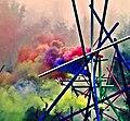 Pedro Meier Rauch Performance »Apocalypse Now« 2017, Color Smoke Bombs Installation, Ausstellung Skulpturenpark Stiftung Franz Eggenschwiler Switzerland, Nr. 05, Photo © Pedro Meier Multimedia Artist.jpg