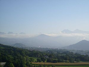 """Gap, Hautes-Alpes - The """"bar Bayard"""", synonymous with good weather over the city"""