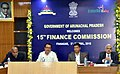 Pema Khandu, the Deputy Chief Minister of Arunachal Pradesh, Shri Chowna Mein and the Member of the 15th Finance Commission, Shri Shaktikanta Das at a meeting, in Itanagar, Arunachal Pradesh.jpg