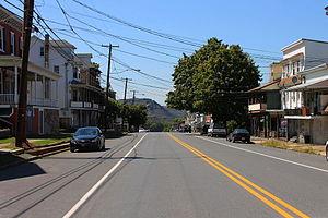 Trevorton, Pennsylvania - Pennsylvania Route 225 in Trevorton