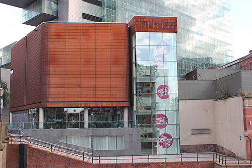 The People's History Museum, as viewed from across the River Irwell in Salford People's History Museum from Salford.JPG