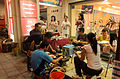 People Eating Barbecue in Arcade of No. 11, Section 2, Nanjing East Road, Taipei 20150926.jpg