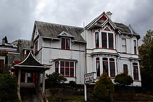Clapboard (architecture) - Period weatherboard house in Dunedin, New Zealand
