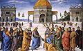 Perugino - Entrega de las llaves a San Pedro (Capilla Sixtina, 1481-82).jpg