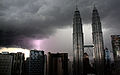 Petronas Towers during lightning storm (3324768727).jpg