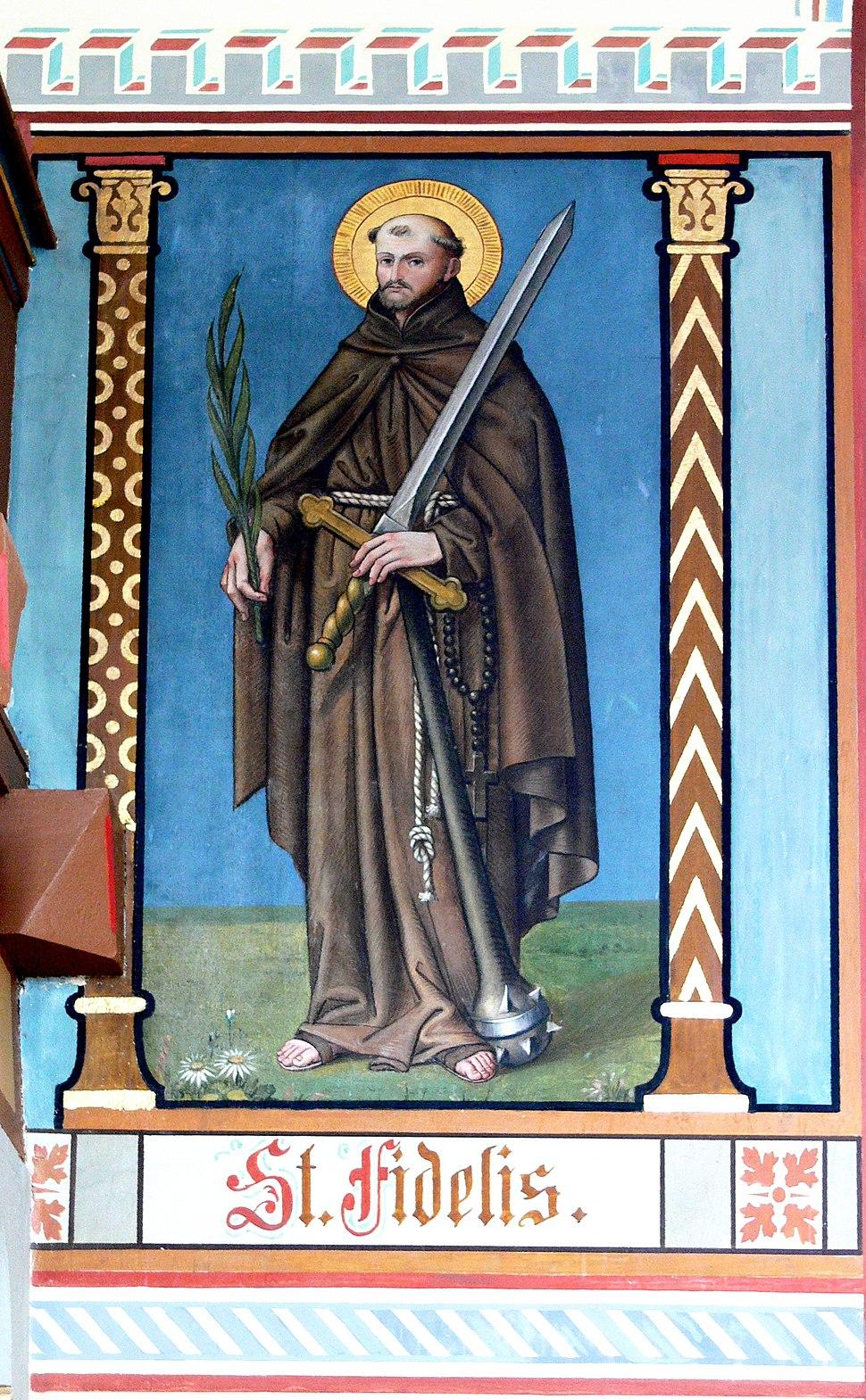 Pfärrenbach Wandmalerei Fidelis von Sigmaringen