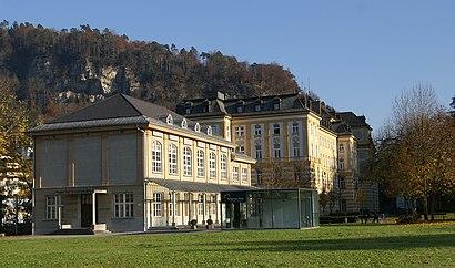 So kommt man zu Vorarlberger Landeskonservatorium mit den Öffentlichen - Mehr zum Ort Hier