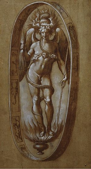 Phanes (mythology) - A 16th-century drawing of Phanes by Francesco de' Rossi
