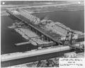 "Photograph with caption ""Upper Miss. River, Dam No. 8...General View."" - NARA - 282388.tif"
