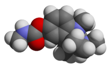Physostigmine - 3D - Space-filling Model.png