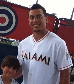 Picture of Giancarlo Stanton during Marlins Fanfest 2012.jpg