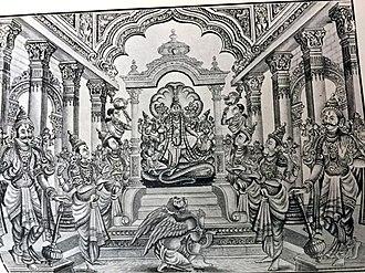 Vaikuntha - Picture of Vaikunda - Garuda eagle is the vehicle of Vishnu