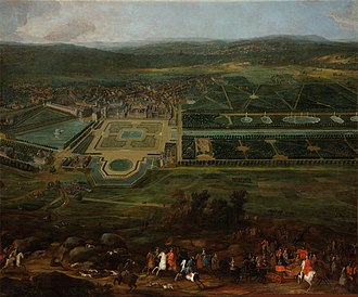 Palace of Fontainebleau - Louis XIV hunting near the Palace of Fontainebleau. Painting by Pierre-Denis Martin