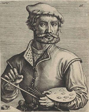 Pieter Coecke van Aelst - Coecke van Aelst, engraving by Johannes Wierix