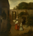 Pieter de Hooch A Woman and Child in a Courtyard.png