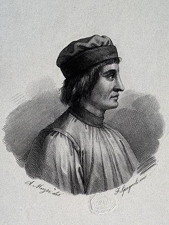 Pietro de' Crescenzi - Nineteenth-century engraved portrait of de' Crescenzi after Antonio Muzzi