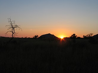 Pilanesberg Game Reserve - Sun setting over Pilanesberg