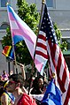 Pink flag and US flag - DC Capital Pride parade - 2013-06-08 (8992396900).jpg