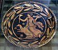 Pittore di ascoli satriano, piatto con figura femminile e cane, 310-300 ac ca.jpg