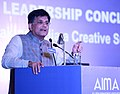 """Piyush Goyal addressing at the AIMA's 2nd National Leadership Conclave on """"Breaking Through Making India a Creative Superpower"""", in New Delhi.jpg"""