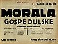 Plakat za predstavo Morala gospe Dulske v Narodnem gledališču v Mariboru 14. novembra 1929.jpg