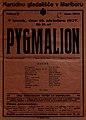 Plakat za predstavo Pygmalion v Narodnem gledališču v Mariboru 18. oktobra 1927.jpg