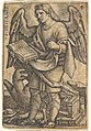 Plate 4- Saint John with his head turned three-quarters to the left, with a book in his right hand and an eagle at his feet, from 'The four evangelists' MET DP828551.jpg