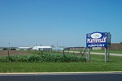 Platteville Municipal Airport entrance.jpg