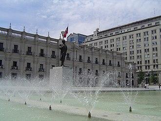 La Moneda Palace - Image: Plaza Ciudadania 2
